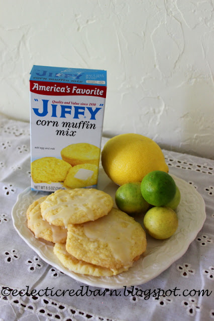 Eclectic Red Barn: Lemon-Lime Cornbread Cookies from Jiffy Muffin Mix