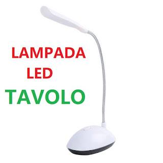 lampada led da tavolo pieghevole on tenck