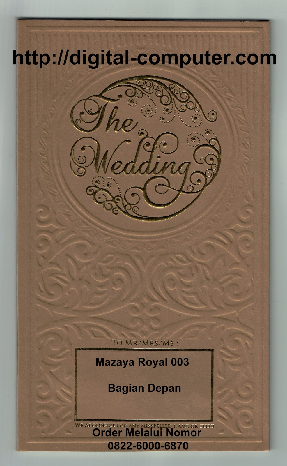 undangan hardcover Mz-020