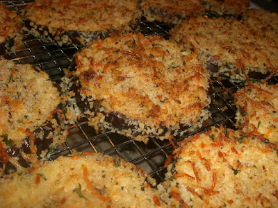 Crispy Oven Fried Eggplant Parmesean Ww Recipe Diva