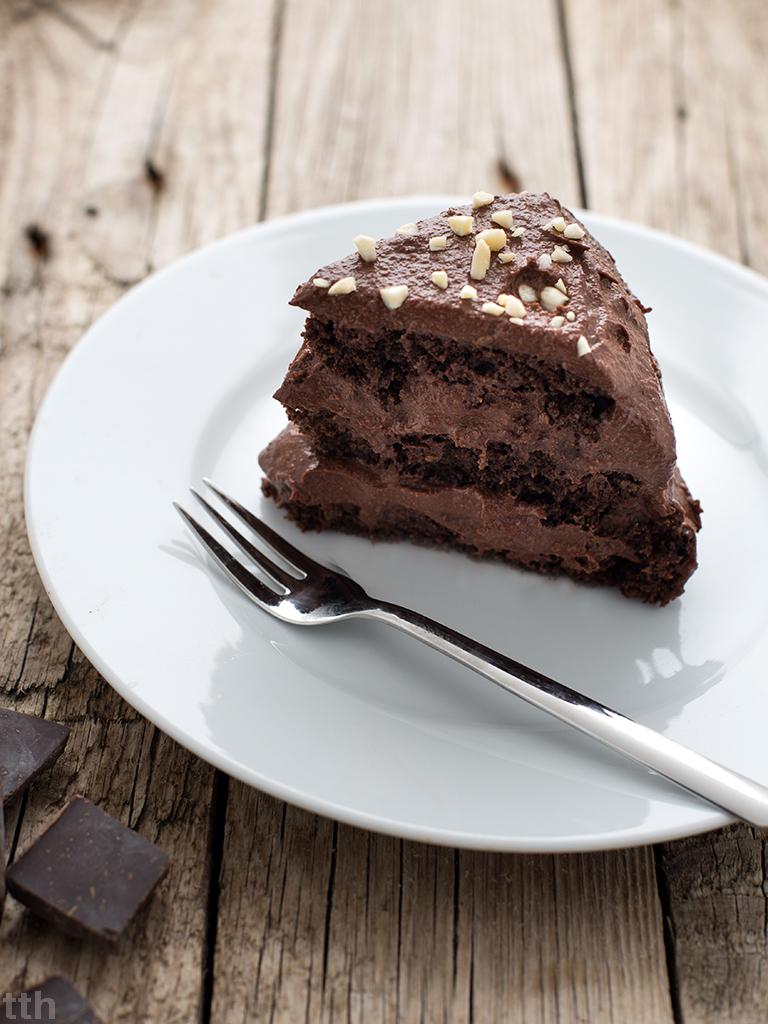 wegański tort czekoladowy bezcukru bezglutenowy blog