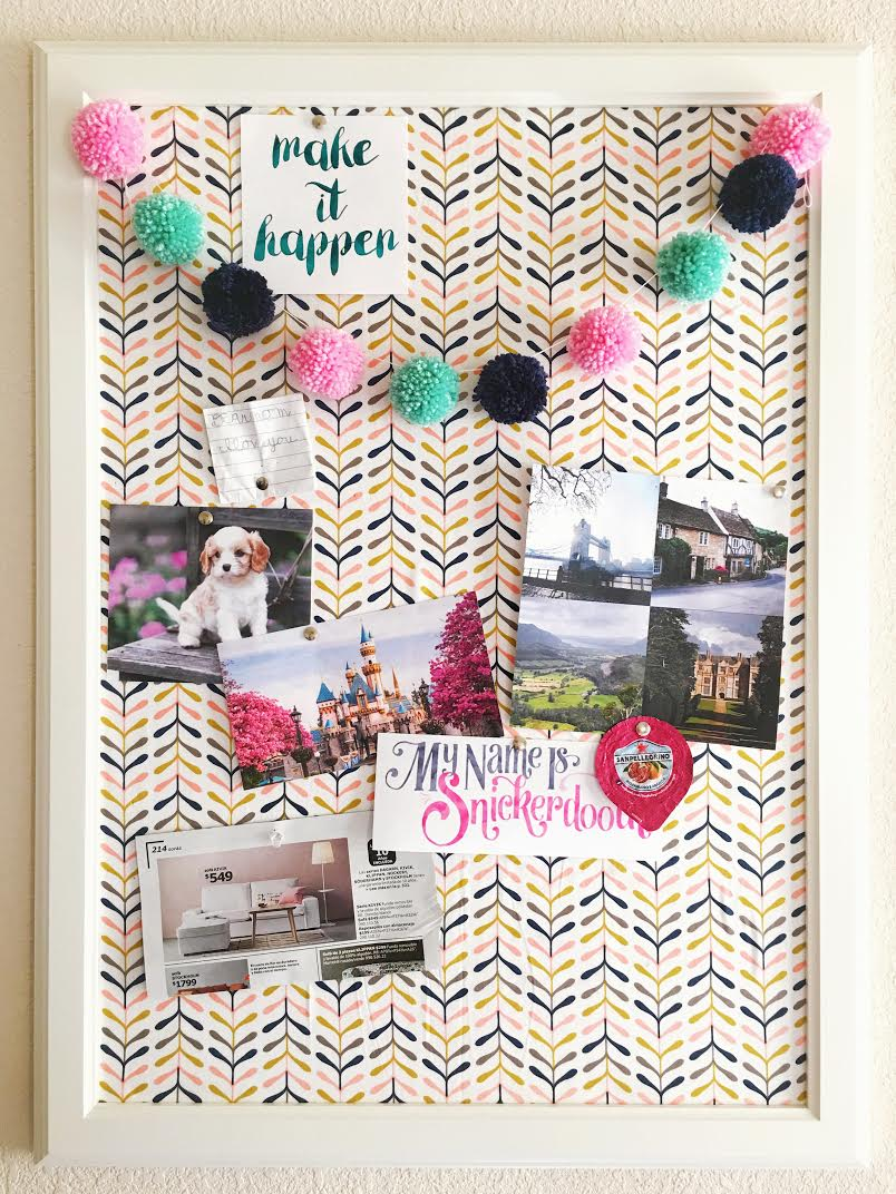 Fabric Covered Dream Board Diy My Name Is Snickerdoodle