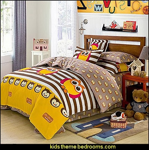 Owl Bedding Kids Duvet Cover Set