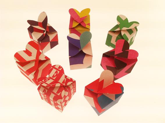 Nineteenseventythreeltd Paper Craft Heart Gift Box
