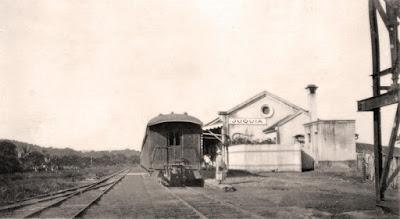 Estação de Juquiá, por volta de 1930-40. Acervo: Wanderlei Duck.