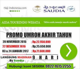 info Jadwal Harga Daftar Paket Umroh Desember akhir tahun 2016