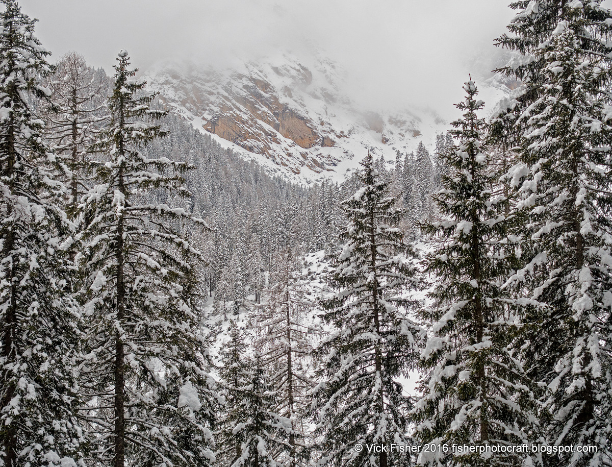 snow mountains Dolomites Italy spectacular large format color photograpy snowshoe outdoors adventure travel wilderness pristine solitude silence beautiful Vick Fisher copyright 2016