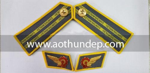 cầu vai  đồng phục bảo vệ đường sắt việt nam