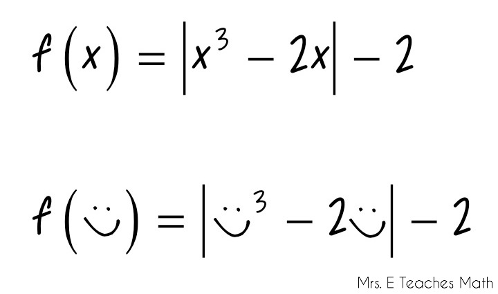 How I Teach Function Notation - using hearts and smiley faces to make it painless