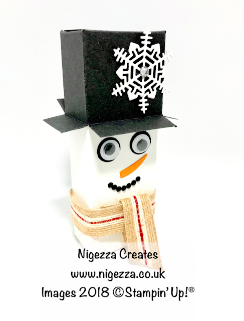 InspireINK Secret Santa Blog Hop Nigezza Creates Snowman Gift Box