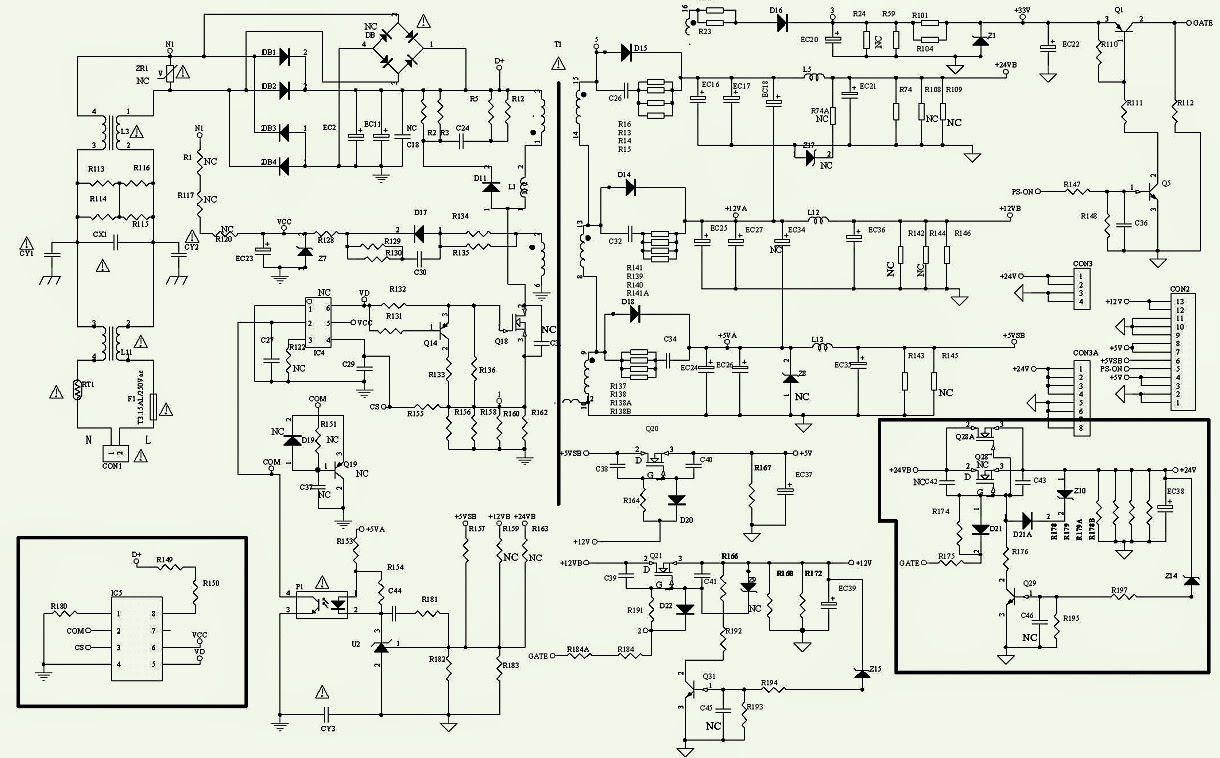 schematic diagram sharp 63as 06s color tv