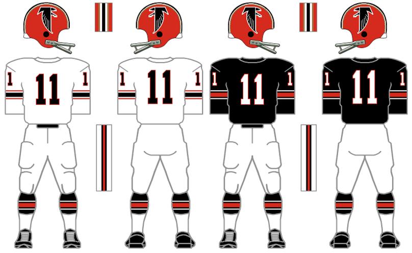 daf9ba7f The Gridiron Uniform Database: The Atlanta Falcons Uniform History
