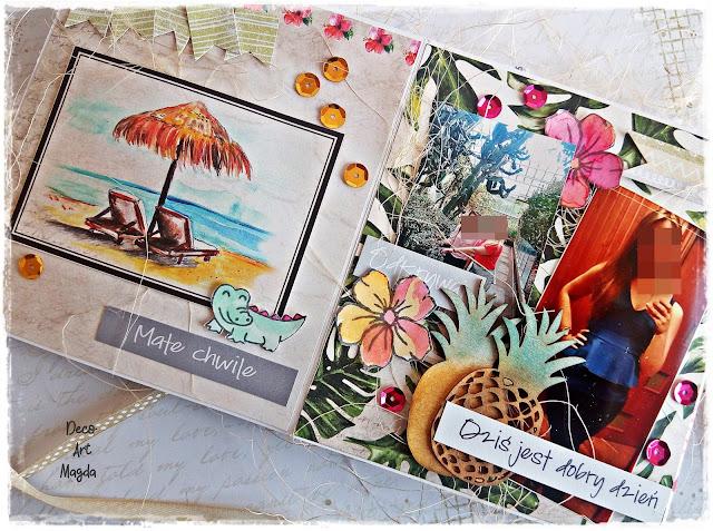 kolekcja papierów do scrapbookinu Vintage Tropical Island