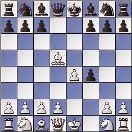 Partida de ajedrez Colomer vs Vivas Font, I Torneo Romántico 1947, posición después de 4.Axd5