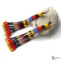Яркие серьги-кисти из бисера - этно-стиль