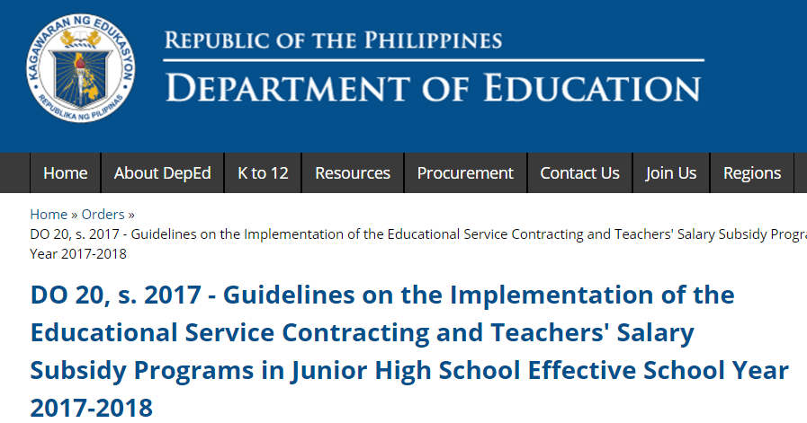 DEPED TAMBAYAN PH: DO 20, s. 2017 - Guidelines on the ...