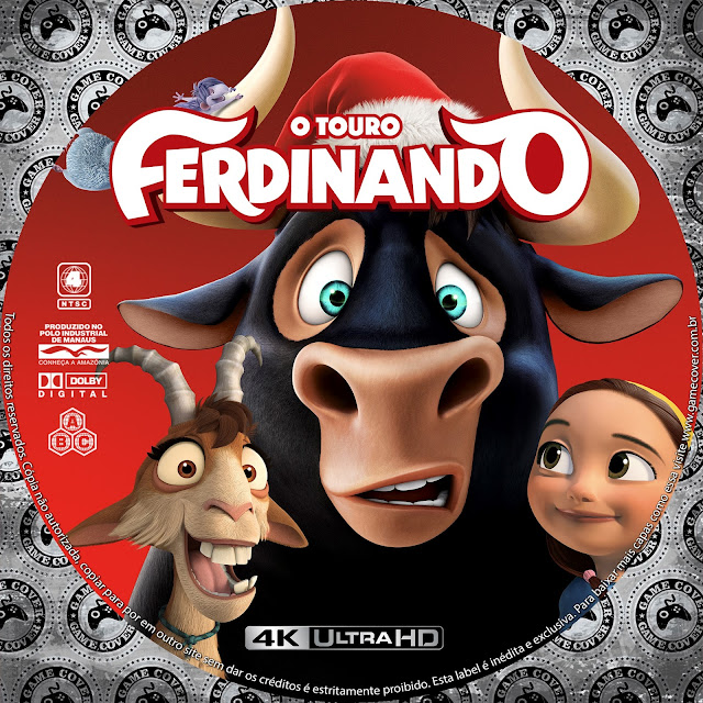 Label Bluray 4K O Touro Ferdinando [Exclusiva]