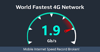 Where is the 4G fastest service in the world?