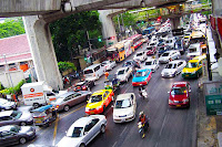 Bangkok traffic bottleneck