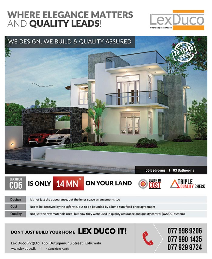 5 bedroom Lex Duco C 05 is only 14 Mn on your land