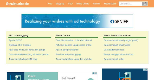Blog Strukturkode.blogspot.com - Blog Bloging Bisnis Online Internet Marketing Terbaik Di Indonesia