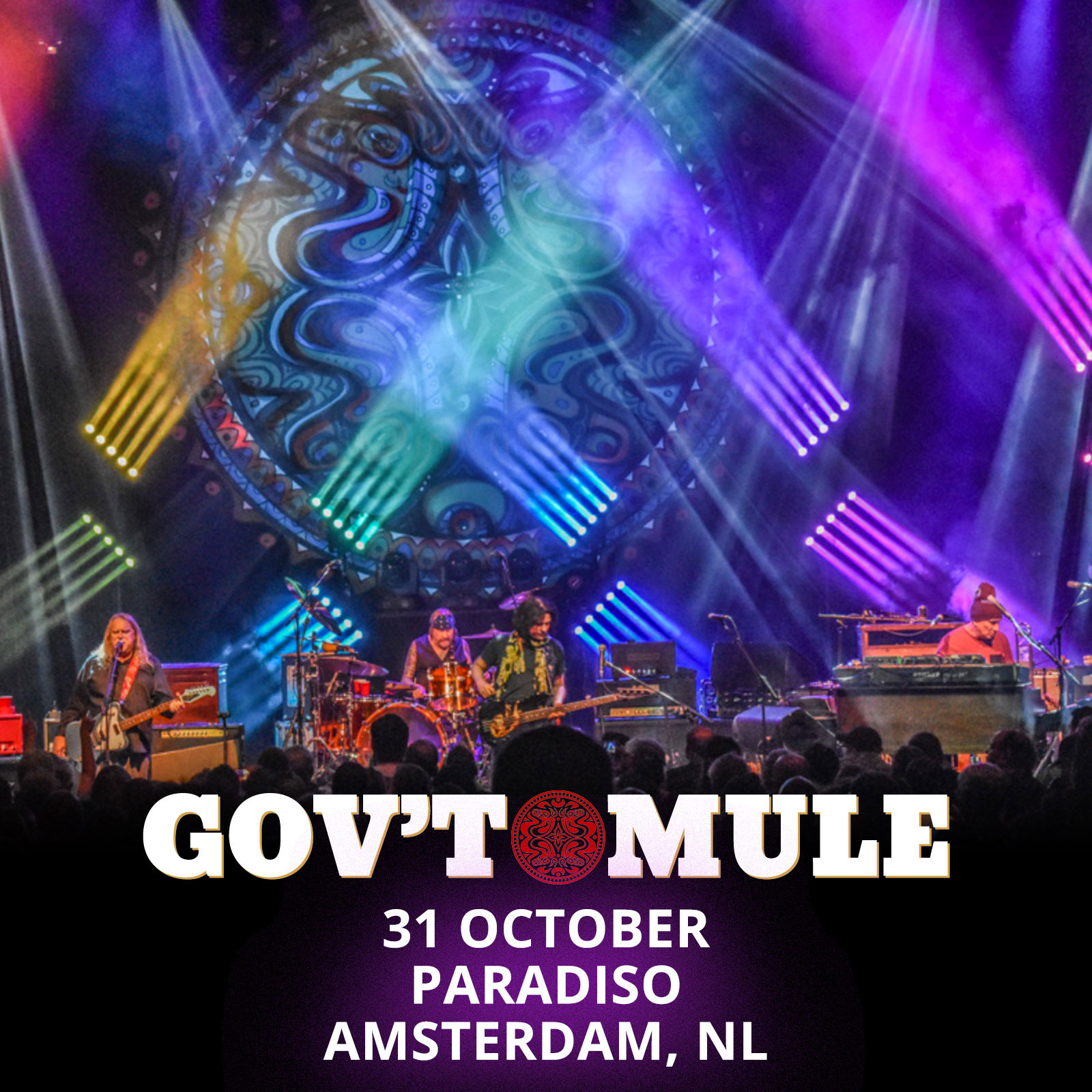 31 Oktober Halloween Amsterdam.The Curtain With Gov T Mule 2017 10 31 Paradiso