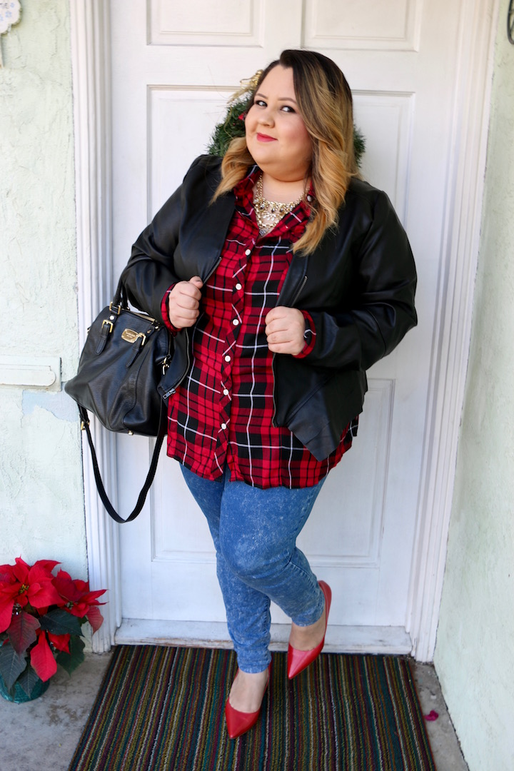 winter plaid outfit of the day blusa cuadrada para invierno. Black Bedroom Furniture Sets. Home Design Ideas