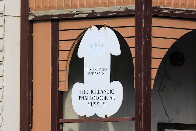 Cartel del museo del pene de Islandia