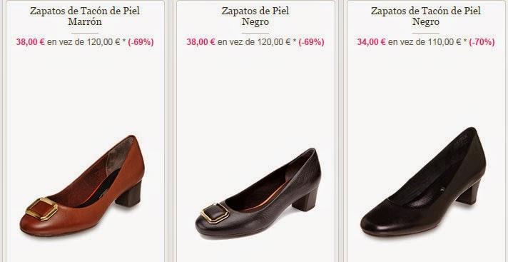 Tres modelos de zapatos de tacón de Rockport también en oferta