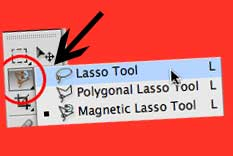 lasso tool in Photoshop