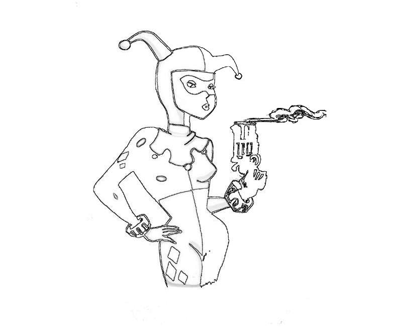 Cute Harley Quinn Coloring Pages Coloring Pages