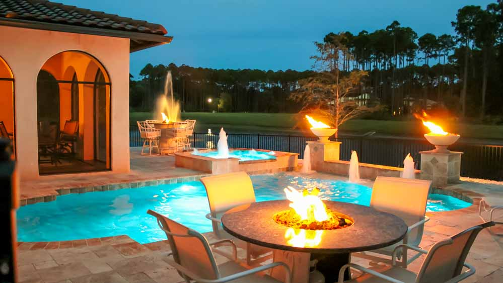 25 the most amazing seating area around the fire pit for Knebel design pool ug