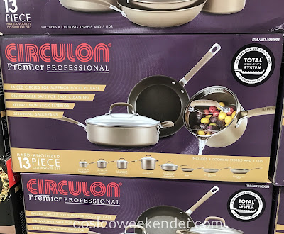 Costco 1986008 - Circulon 13pc Hard Anodized Cookware Set: great for professional chefs or home cooks