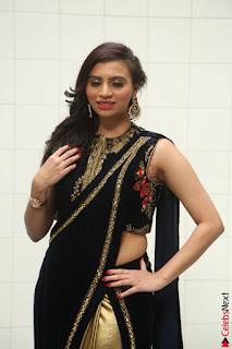 Priyanka Ramana in Beautiful Designer Black Saree At We Craft Elegance Expo Launch 041.JPG