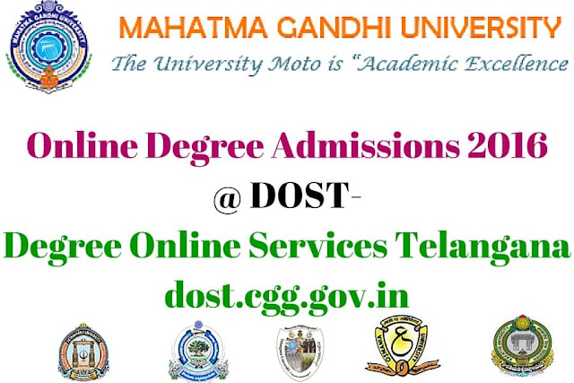 Mahatma Gandhi University,Online Degree admissions,dost-degree online services telangana