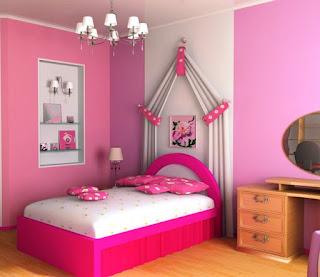 Desain Kamar Tidur Anak  Perempuan Cantik Minimalis
