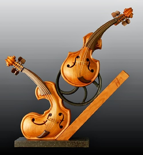 02-A-Little-Help-for-my-Friend-Philippe-Guillerm-Musical-Instruments-Sculptures-French-Artist-Musician-Sculptor-Painter-Furniture-Maker-www-designstack-co