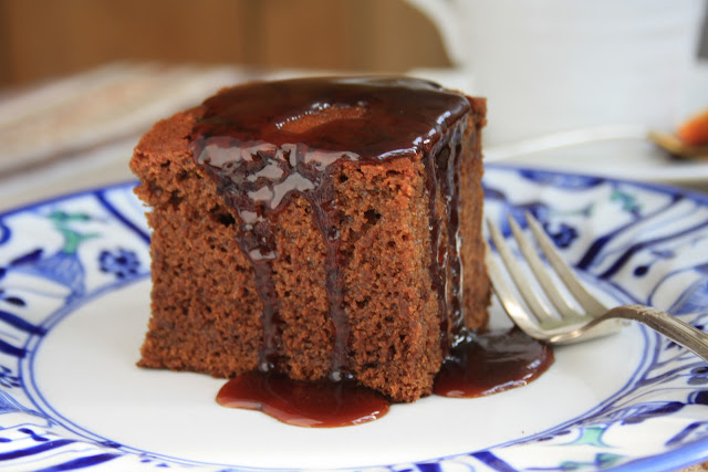 Old fashioned gingerbread cake is moist and delicious