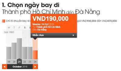 Giá vé máy bay đi Đà Nẵng tháng 10