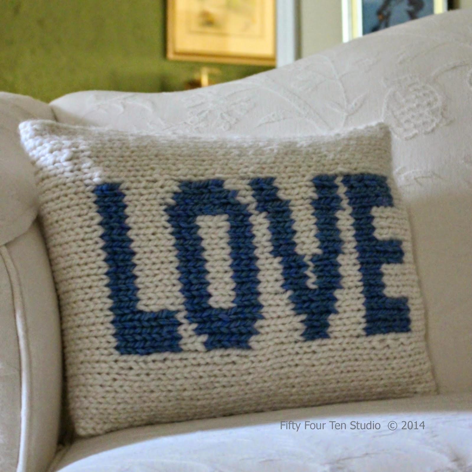 knitting pattern the love pillow