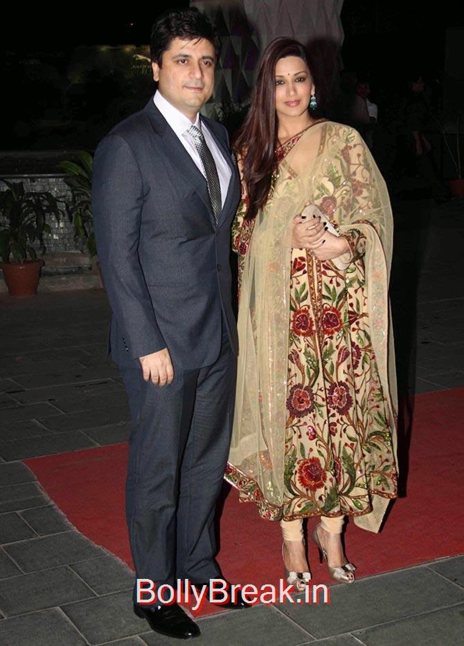 Sonali Bendre, Goldie Behl, Esha, Sridevi, Jacqueline, Sonali at Tulsi Kumar's wedding Reception