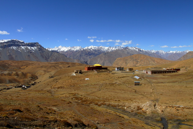 The high village of Komic in the Spiti Valley of Himachal Pradesh
