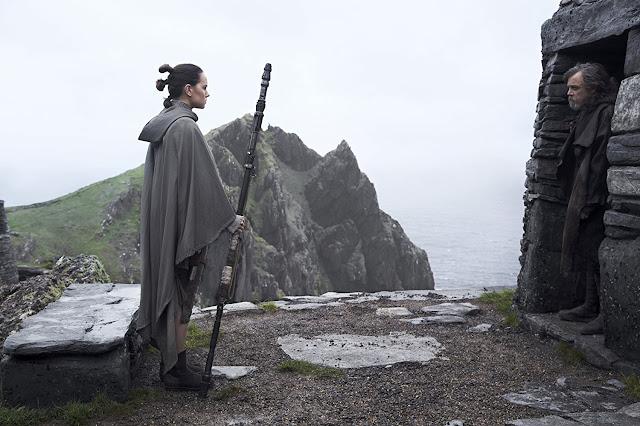 Rey (Ridley) y Luke (Hamill)