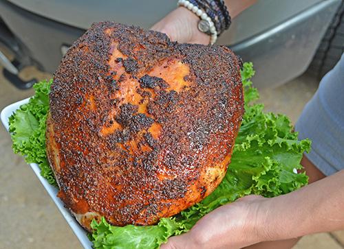 Smoked Turkey Breast with Bourbon Orange Glaze on a Grilla ...