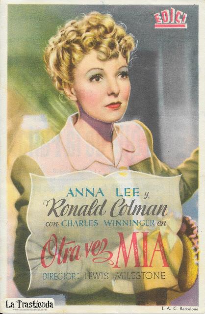 Otra Vez Mía - Programa de Cine - Anna Lee - Ronald Colman