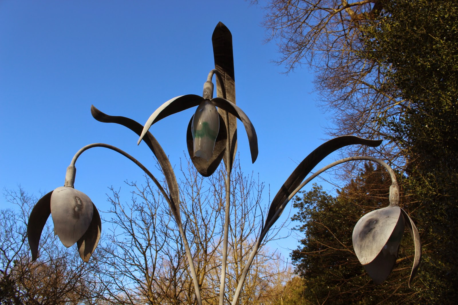 Galanthus sculpture at Lacock Abbey