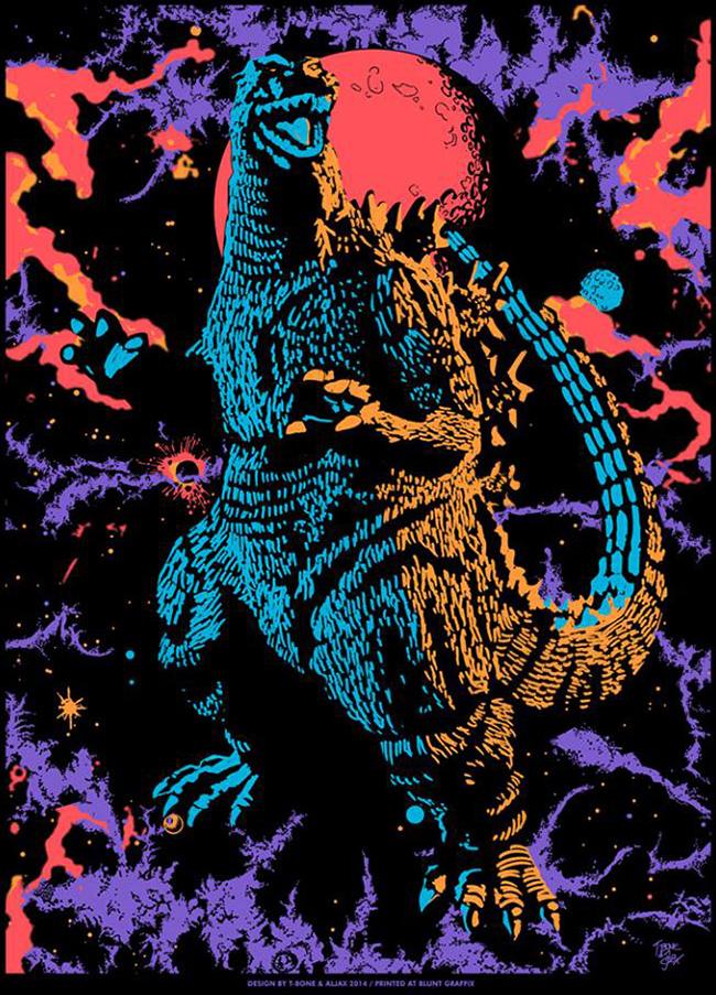 T-Bone & Aljax (US) - Godzilla poster