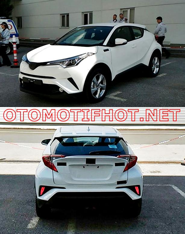 Foto Spyshot Toyota C-HR Hasil Produksi Toyota Motor Manufacturing Turki - Tampak Depan dan Belakang - Warna Putih