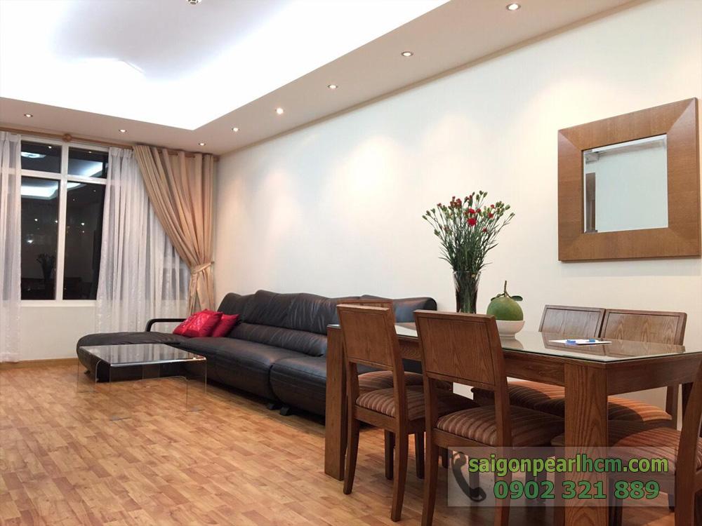 căn hộ cho thuê Saigon Pearl Ruby 2 tầng cao giá thuê cực tốt - hình 2