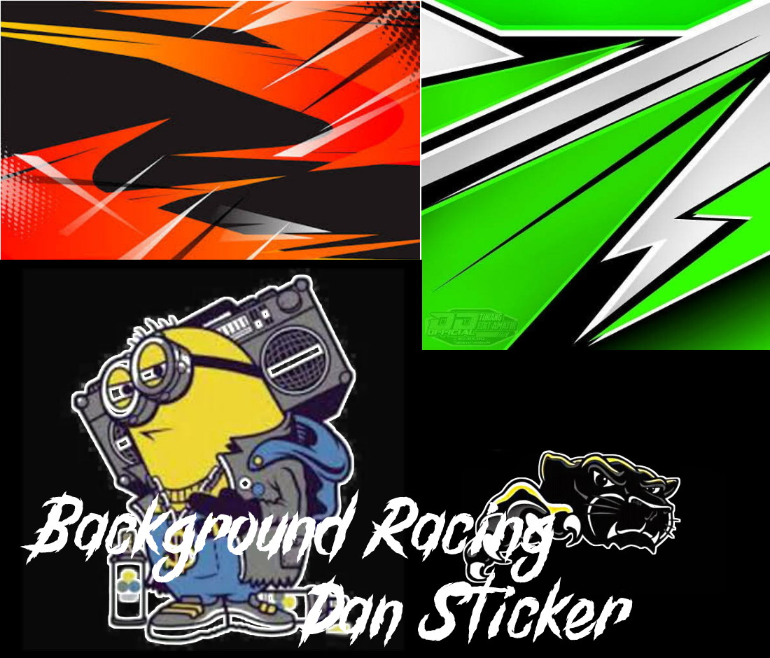 Kumpulan background racing dan sticker mentahan pixellab hd terbaru